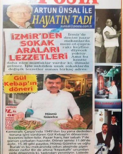 Gül Kebap Posta Gazetesi Artun ÜNSAL